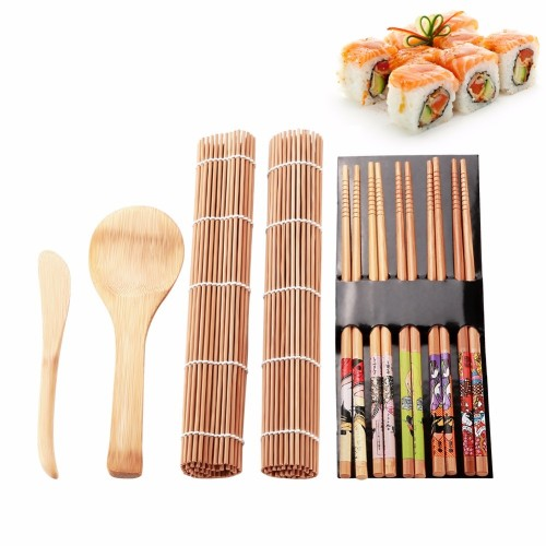 13Pcs set DIY Sushi Maker Set Rice Mold Kitchen Sushi Making Tool Kit Sushi Mold Cooking