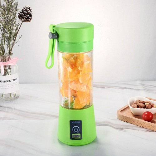 Dual Blade USB Charger Portable Juice Blender Mixer Fruit Electric Mixer