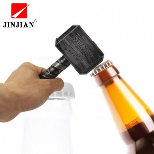 JINJIAN Beer Bottle Openers Hammer of Thor Shaped Bottle Opener Corkscrew Beverage Wrench Jar Openers