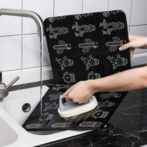 Kitchen Gadgets Oil Splatter Screens Aluminium Foil Plate Gas Stove Splash Proof Baffle Home Kitchen Cooking