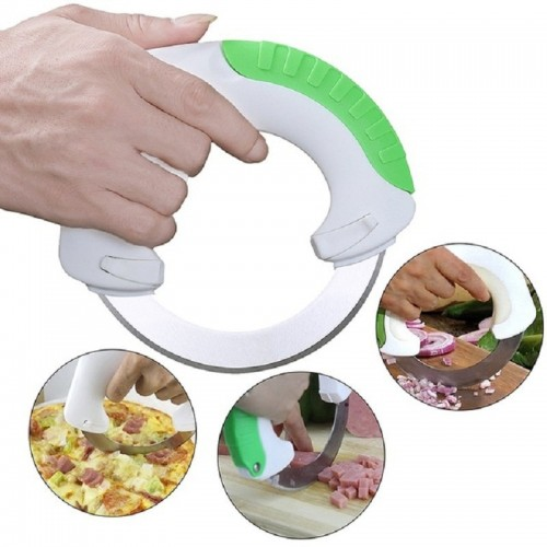 Rolling Knife Circular Kitchen Cutter Pizza Wheel Knife Pastry Cutter Vegetable Chopper