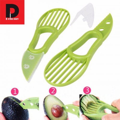 Dehomy Manual Slicers Multi functional Avocado Cutter Knife Corers Fruit Tools Shea Butter Peeler Durable Blade