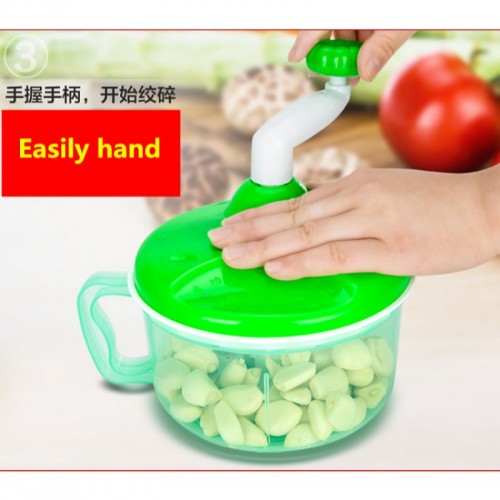 Multi function Kitchen Manual Food Processor Household Meat Grinder Vegetable Chopper Quick Shredder Green Cutter