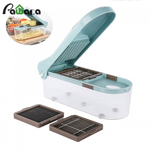 Multifunctional Vegetable Cutter Cheese Grater multifunction Blades for Onion Potato Tomato Fruit Cooking Helper Stainless