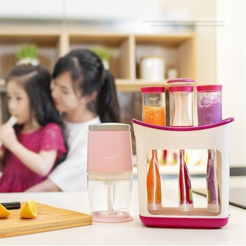 Squeeze Juice Station Baby Food Organination Storage Containers Baby Food Maker Set Fruit puree Packing