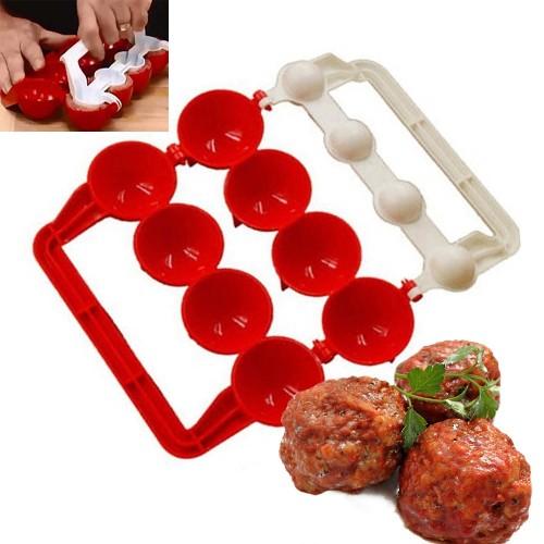 1Set Creative Plastic Meatballs Maker Fish Balls Molds DIY Stuffed Meat Ball Making Tool Kitchen Gadget