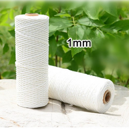 DoreenBeads 1mm 3mm Thick Cotton Polyester Butcher s String Twine For Meat Beef Turkey Rice