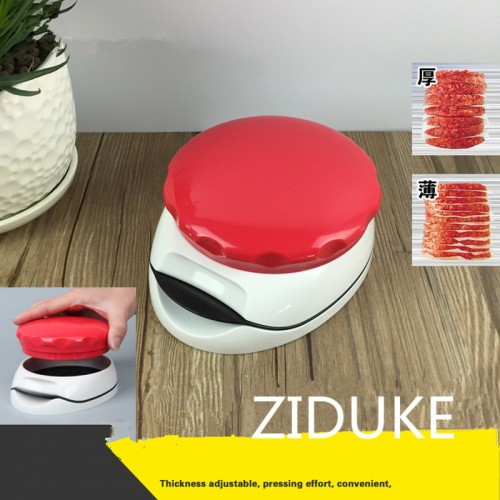 Mini Kitchen Cooking Tools Red Hamburger Meat Press Burger Maker Barbecue Innovative Kitchenware Patties Plastic
