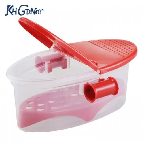 KHGDNOR Microwave Pasta Boat Noodle Oven Steamer Water Strainer Box Plastic Pasta Maker Noodle Box.jfif