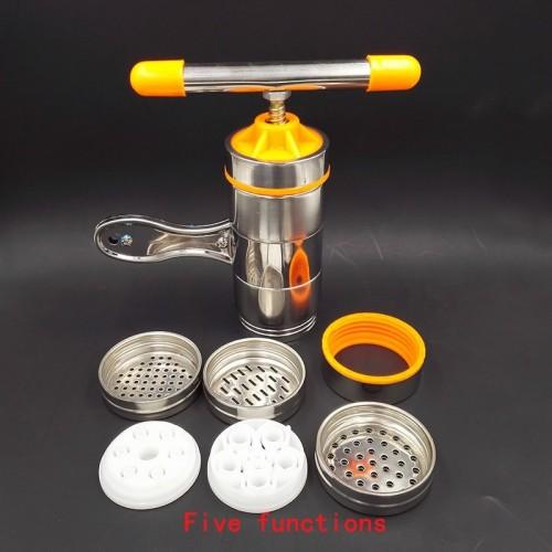Manual Noodle Maker Kitchen Pasta Spaghetti Press pates Machine Vegetable Fruit Juicer Pressing Machine Stainless Steel.jfif