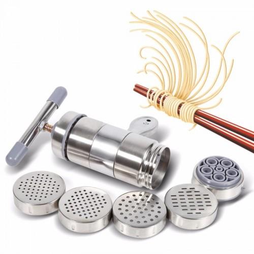 Manual Noodle Maker Press Pasta Machine Crank Cutter Fruits Juicer Cookware With 5 Pressing Moulds Making.jfif