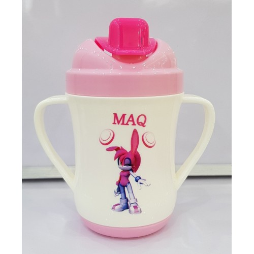 Cartoon Spill Proof Heat Resistant Handle 240ml Water Cup Learning Drink Sippy Baby Cup High Quality