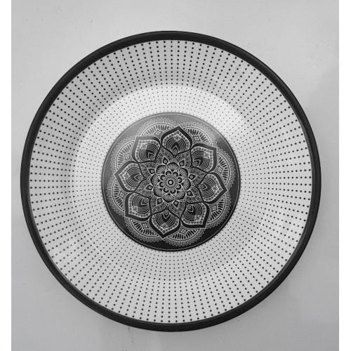 Printed Dinner Plate Dish Decorative Salad Fruit Wedding Plate Dinner Glazed Melamine Large Size