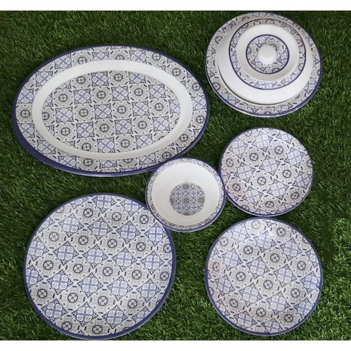 Set Of Six Glazed Melamine Home Kitchen High Quality Dinner Set