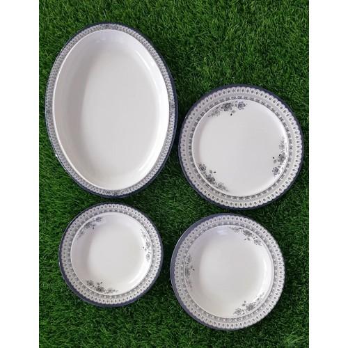 Set Of Four Glazed Melamine Home Kitchen High Quality Dinner Set