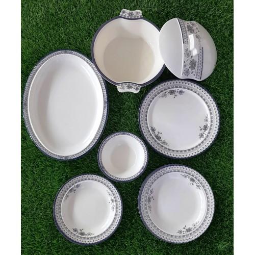 Set Of Six Pieces Glazed Melamine Home Kitchen High Quality Dinner Set
