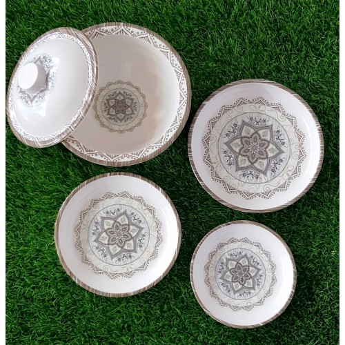 Set Of Four Glazed Melamine Home Kitchen High Quality Dinner Set