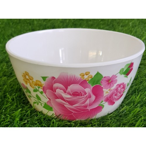 Floral Pattern Bowl Tableware Food Grade Glaze Melamine Anti Knock Bowl High Quality