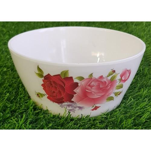 Floral Pattern Bowl Tableware Food Grade Glaze Melamine Anti Knock Bowl High Quality