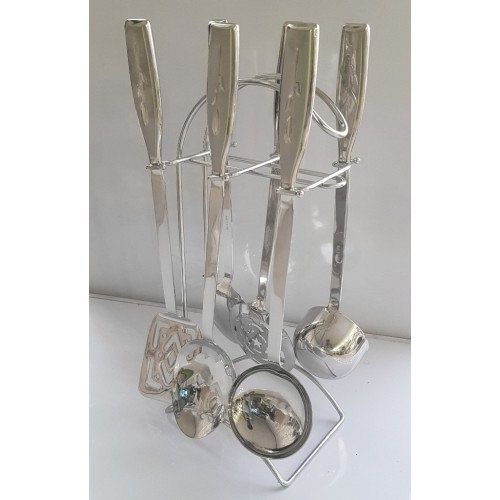 7Pcs Stainless Steel Kitchen Utensil Set Having Stand Kitchen High Quality Cooking Tools Kitchen Set