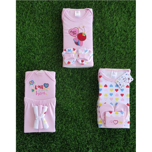 Lovely (10 Pieces/Set) Newborn Baby Infant Boys Girls 0-3 Month Cotton Clothes Set