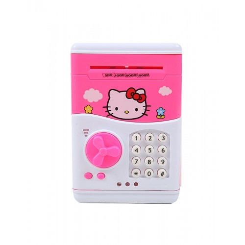 Cartoon Saving Kids Money Boxes Smart Telephone Booth Password Money Piggy Bank with Cute Design
