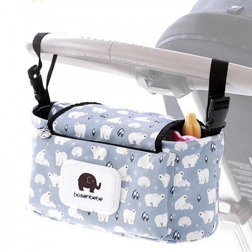 Baby Stroller Organizer Bag Mummy Diaper Bag Hook Baby Carriage Waterproof Large Capacity Stroller Accessories Travel