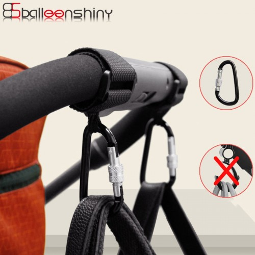 BalleenShiny1pc Baby Stroller Accessories Multi Purpose Baby Stroller Hook Shopping Pram Hook Props Hanger Metal Convenient