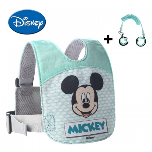 Disney Anti Lost Wrist Leash Baby Safety Backpack Breathable Walking Harness Adjustable Toddler Wristband Walking Assistant