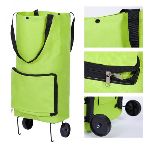 Foldable Multifunction Shopping Bag Cart Tug Trolley Case Wheels Reusable Reusable