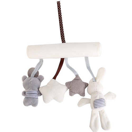 Stroller Accessories Baby Crib Rattles Plush Toys Soft Rabbit Rattles Pram Rattle Hanging For Stroller Newborn