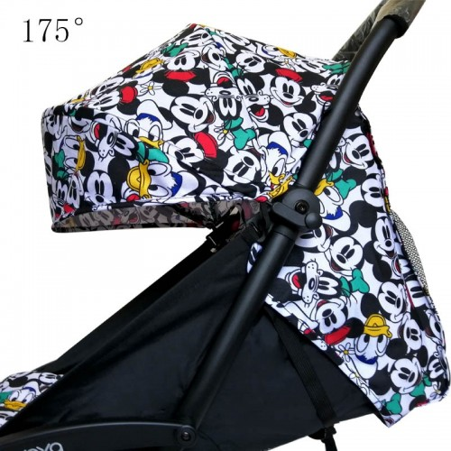 Stroller Hood Mattress For 175 Yoya Baby Throne Oxford Cloth Back With Mesh Pockets Yoya Stroller