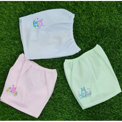 Set Of Three Causal Cartoon Printed 6-12 Months Baby Shorts Cotton High Quality