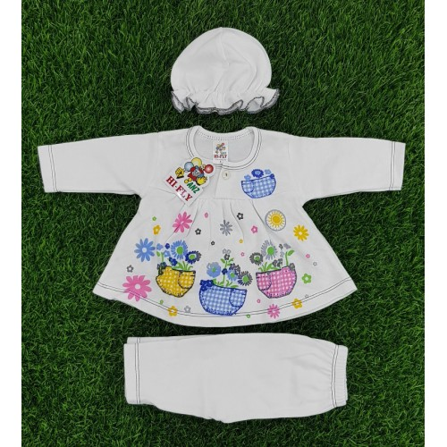 Newborn Baby Clothing Set Baby Girls Cotton Cartoon Printed Long Sleeve Clothing Set