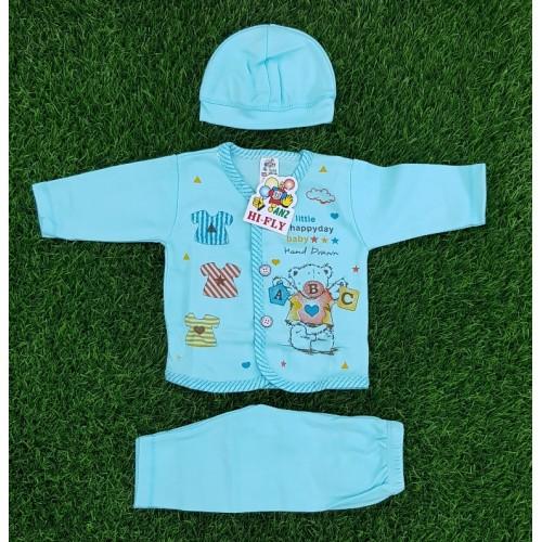 Newborn Baby Clothing Set Baby Boys Girls Cotton Cartoon Printed Long Sleeve Clothing Set