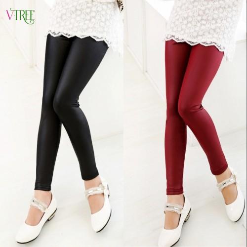Baby Girls Leggings Fashion Spring Autumn Leggings For Girl Faux Leather Skinny Pants Girl Leggings
