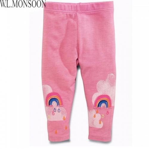 Children Pants Girls Leggings Kids Leggings Children Trousers Striped with Character Print Pantalon Enfant