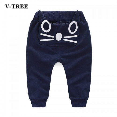 Children Pants Smile Pants For Girls Trousers Cotton Baby Jogger Stere