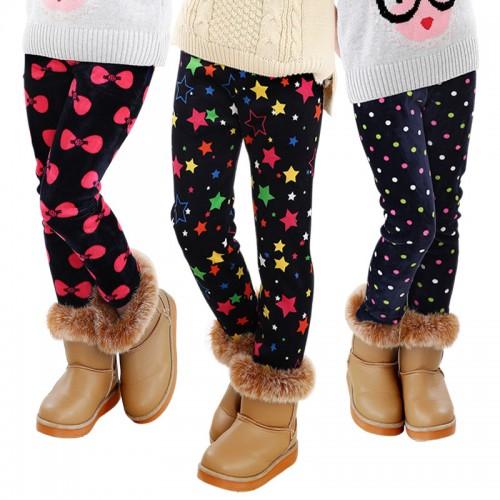 Children Pants Winter Autumn Thick Warm Leggings Girls Pants
