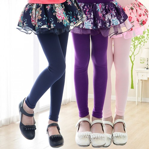 Children clothing female legging autumn child skirt capris faux two piece
