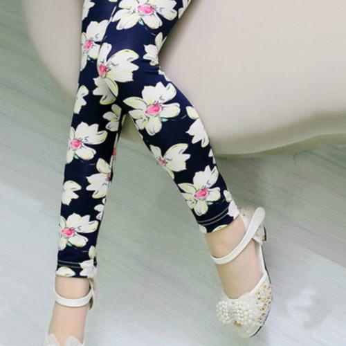 Girls Leggings Brand Children Leggings Spring Summer Print Color Skinny Kids Leggings for Girls Pants