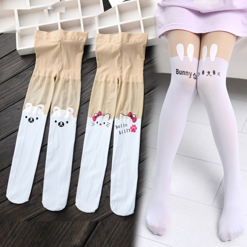 Girls Leggings Cartoon Pattern Printed Baby Girl Pantyhose Children Clothing School Trousers