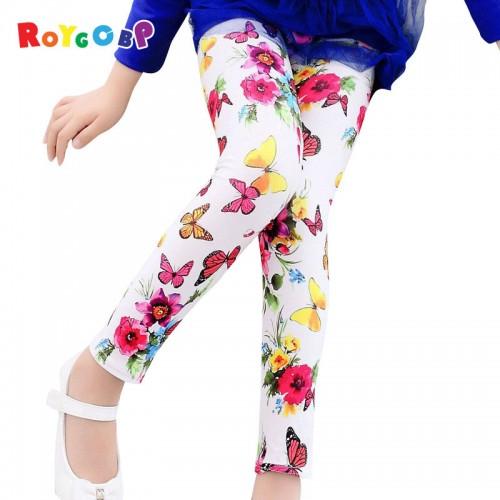 Girls Leggings Children Pants Printed Flower Butterfly Girls Pants