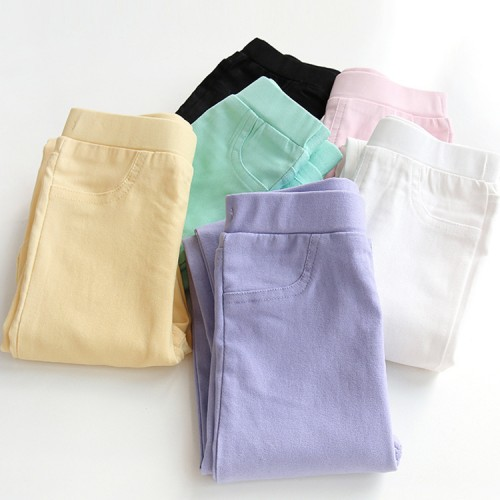 Girls Pant Spring and Autumn Girls Leggings Korean version of the thin cotton children s pants