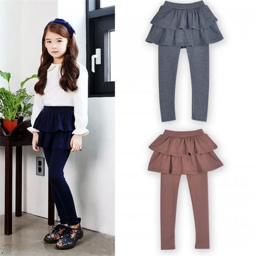 Girls Skirt Pants Autumn Spring Girls Leggings with Skirt Girls Clothes Children Kids Trousers