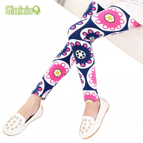 Multi Color Girl Pant Printing Flower children pants Spring Autumn kids leggings skinny girls leggings Kids