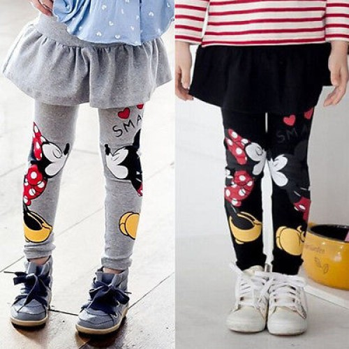 Spring Autumn Baby Kids Girls Minnie Cartoon Mouse Pants Leggings Children Skirt Pants 2 7 Y
