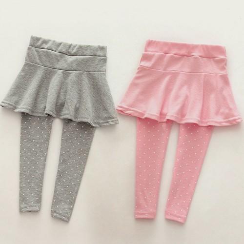 Toddler Cozy Pantskirt Girl Wool Culotte Kids Child Legging Trousers