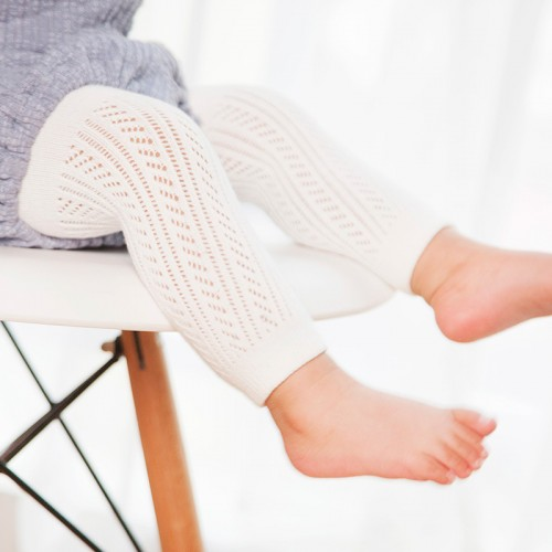 White Cotton Baby Leggings Summer Hollow Out Kids Girls Baby Pants Capris Children Legging for 0