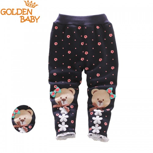 baby warm pants fall and winter fleece Footless new infant knit trousers size